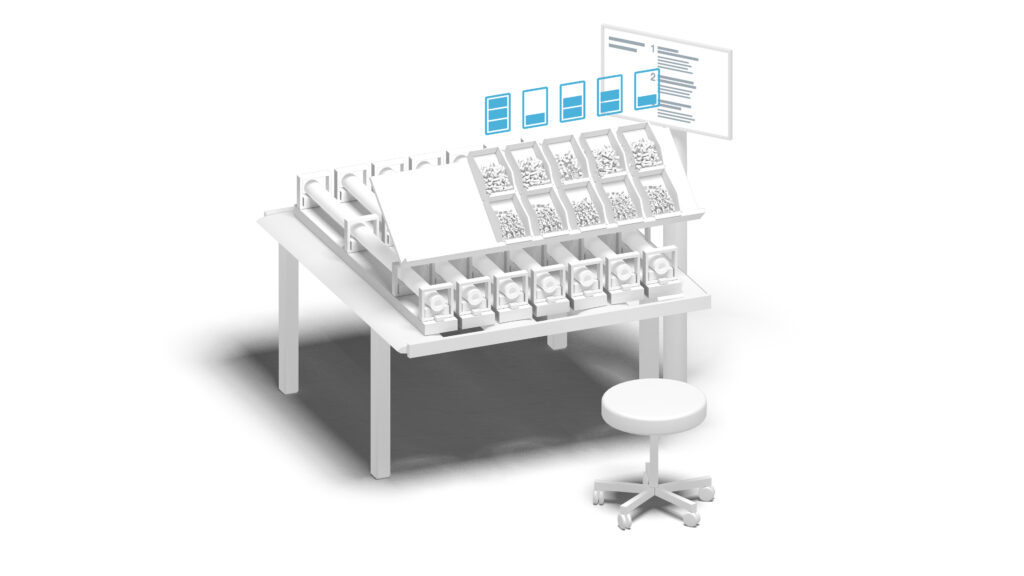 The Smart Reordering System guarantees smooth processes at assembly workstations.